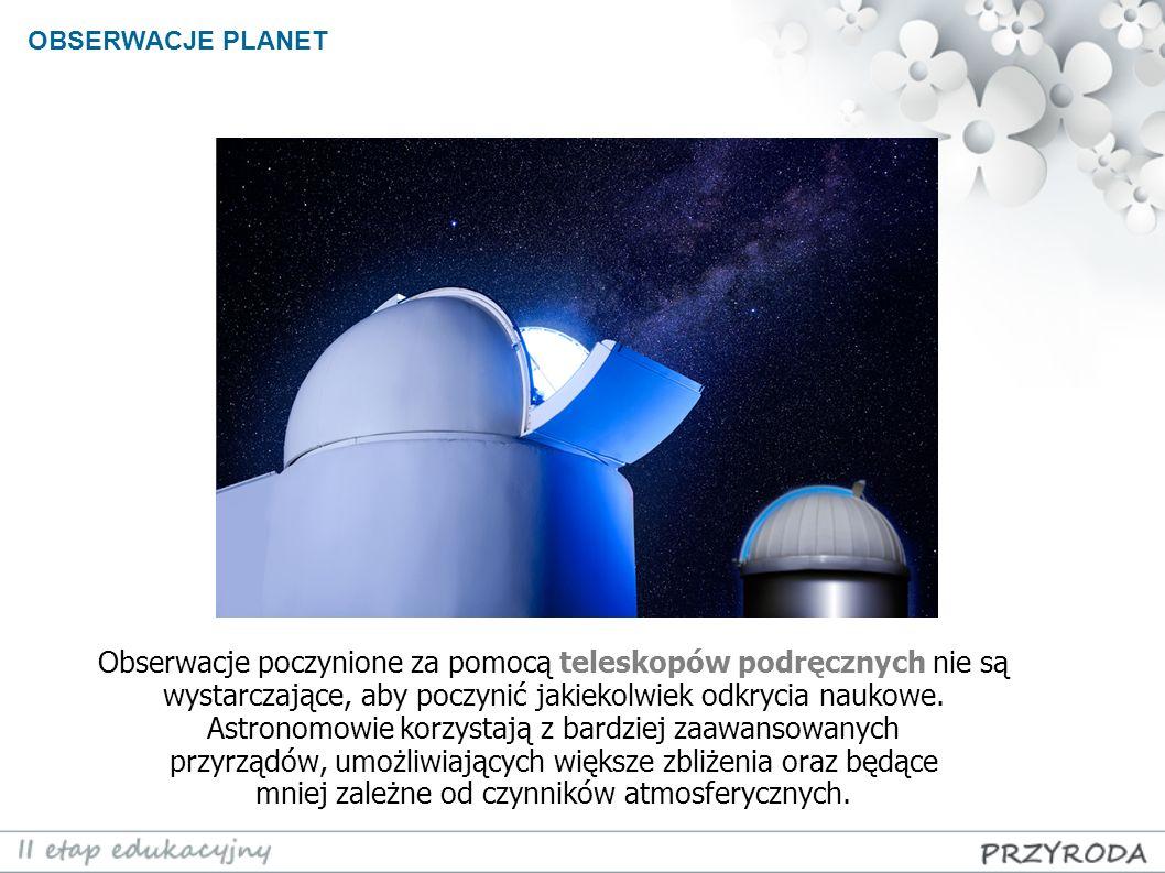 Obserwacje poczynione za pomocą teleskopów podręcznych nie są wystarczające, aby poczynić jakiekolwiek odkrycia naukowe. Astronomowie korzystają z bar