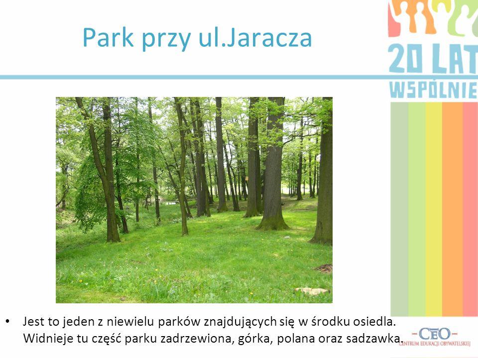 Park przy ul.Jaracza Jest to jeden z niewielu parków znajdujących się w środku osiedla.