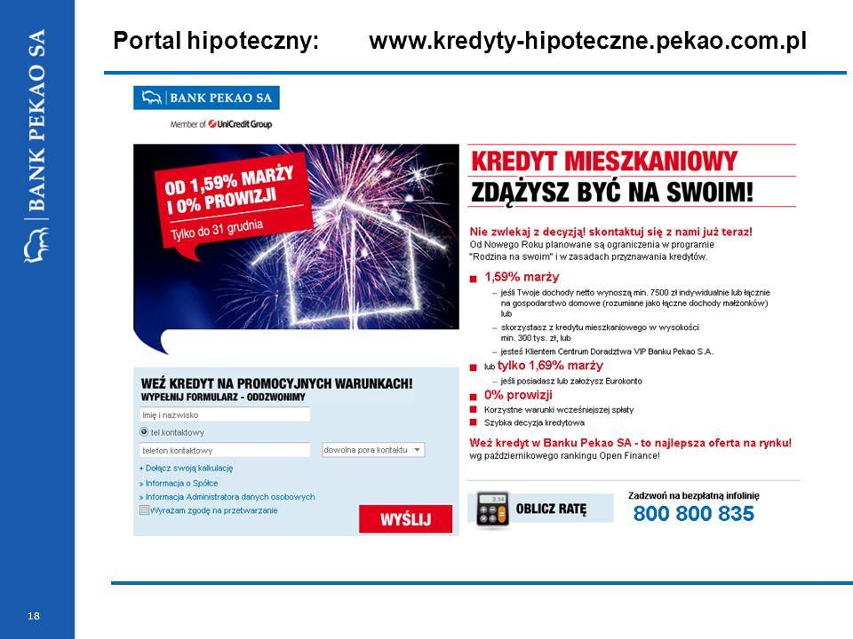 18 Portal hipoteczny:www.kredyty-hipoteczne.pekao.com.pl