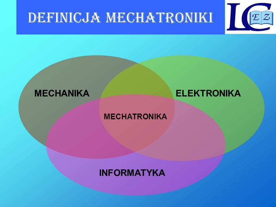 Definicja mechatroniki Mechatronika była rozumiana jako uzupełnienie komponentów mechanicznych przez elektronikę w mechanice precyzyjnej.