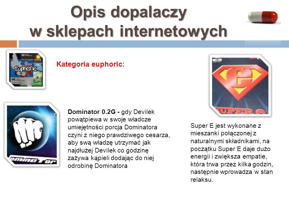 Opis dopalaczy w sklepach internetowych Dominator 0.2G - gdy Devilek powątpiewa w swoje władcze umiejętności porcja Dominatora czyni z niego prawdziwe