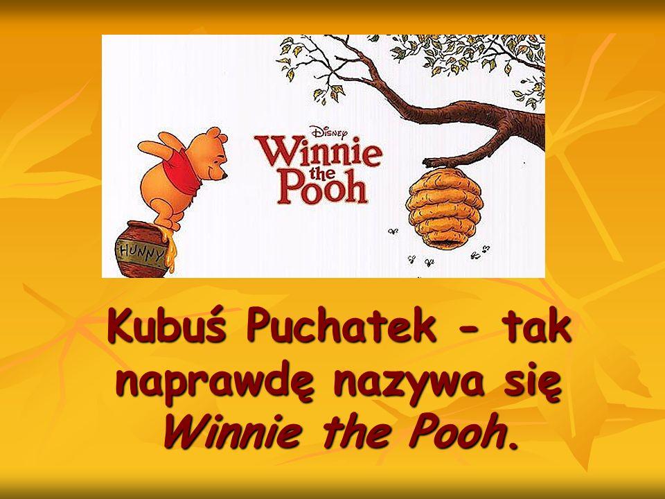 Kubuś Puchatek - tak naprawdę nazywa się Winnie the Pooh.