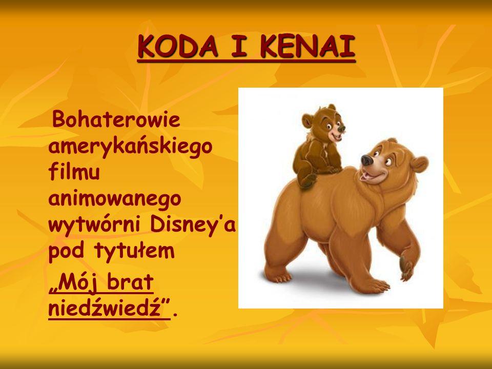 Bohaterowie amerykańskiego filmu animowanego wytwórni Disneya pod tytułem Mój brat niedźwiedź.