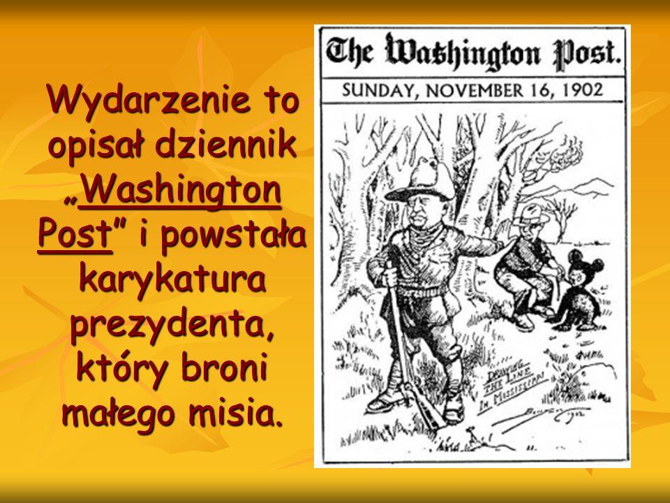 Wydarzenie to opisał dziennikWashington Post i powstała karykatura prezydenta, który broni małego misia.