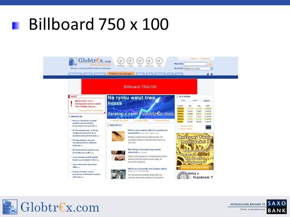 Billboard 750 x 100