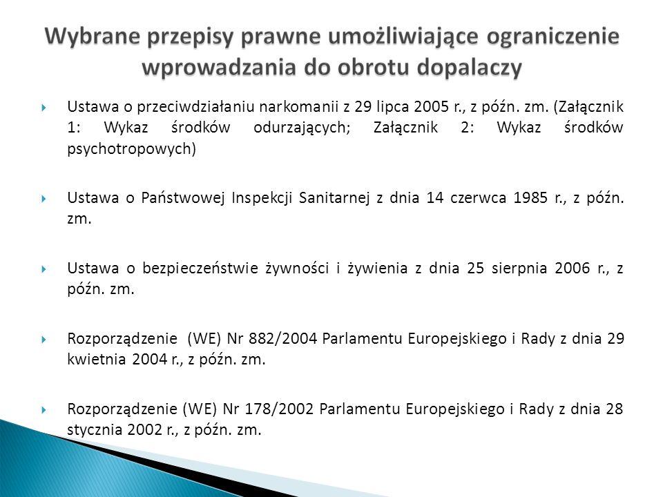 Ustawa o przeciwdziałaniu narkomanii z 29 lipca 2005 r., z późn.