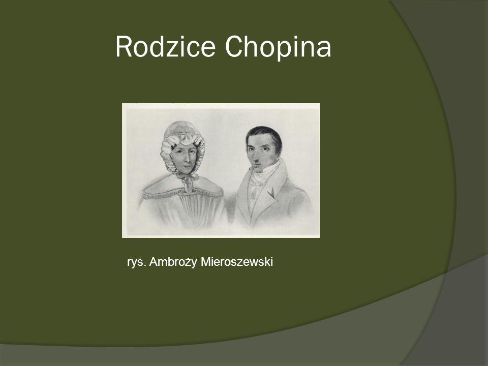 Rodzice Chopina rys. Ambroży Mieroszewski