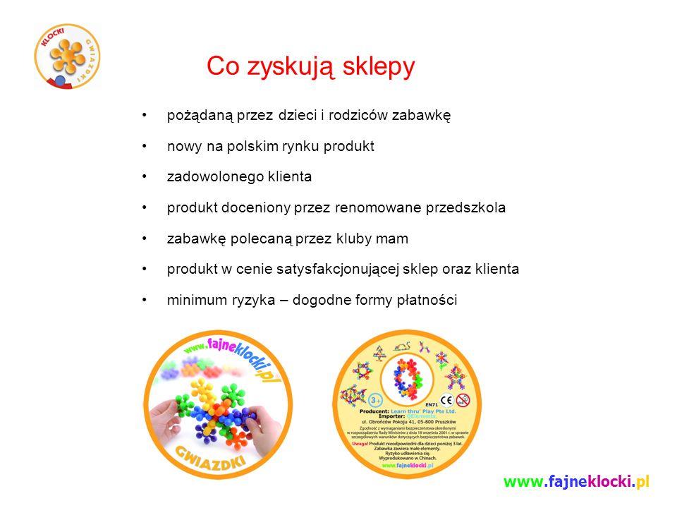 Co zyskują sklepy pożądaną przez dzieci i rodziców zabawkę nowy na polskim rynku produkt zadowolonego klienta produkt doceniony przez renomowane przed