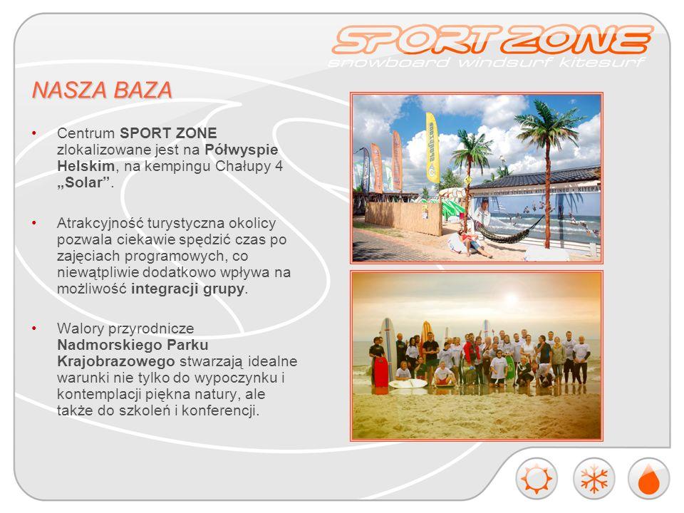 NASZA BAZA Centrum SPORT ZONE zlokalizowane jest na Półwyspie Helskim, na kempingu Chałupy 4 Solar.