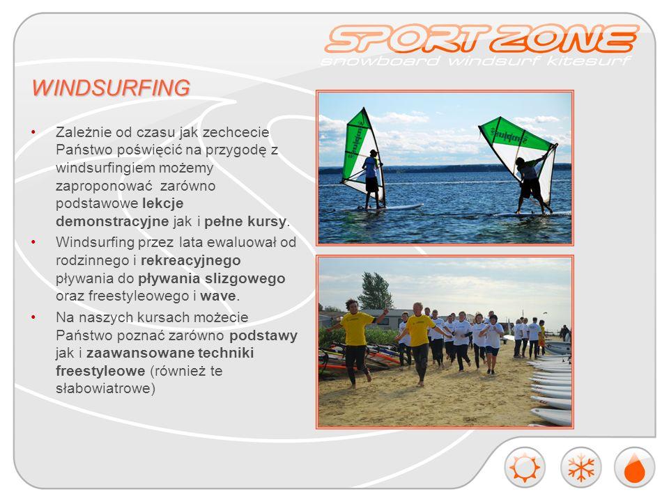 KITESURFING Kitesurfing to stosunkowo młody i wciąż zyskujący ogromną popularność sport.