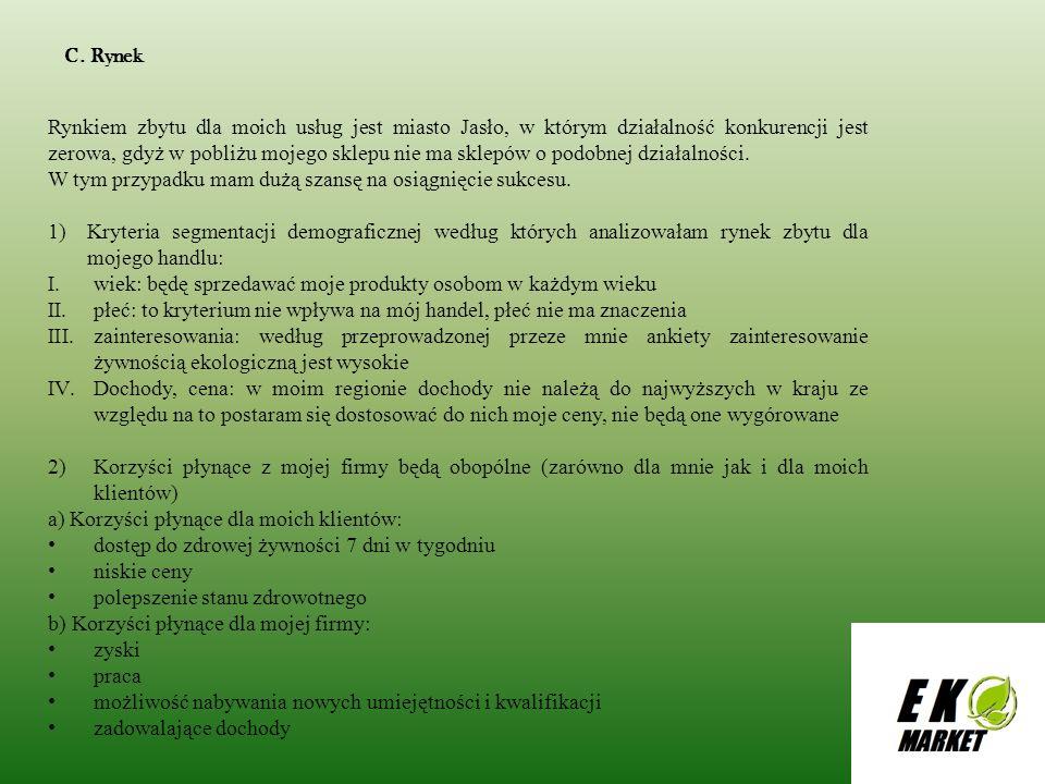 D.PROMOCJA I REKLAMA Planuję promować i reklamować moją firmę w miejscach publicznych.