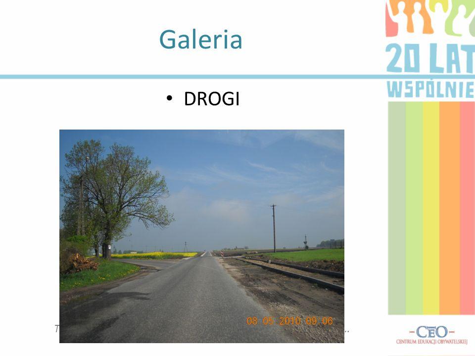 Galeria To miejsce na podpis pod zdjęciem, plikiem video, wykresem… DROGI