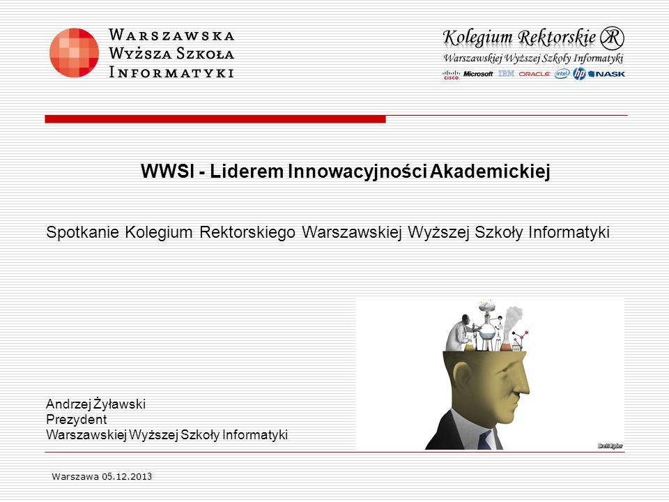 Spotkanie Kolegium Rektorskiego Warszawskiej Wyższej Szkoły Informatyki Andrzej Żyławski Prezydent Warszawskiej Wyższej Szkoły Informatyki WWSI - Lide