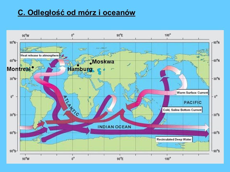 Moskwa HamburgMontreal C. Odległość od mórz i oceanów