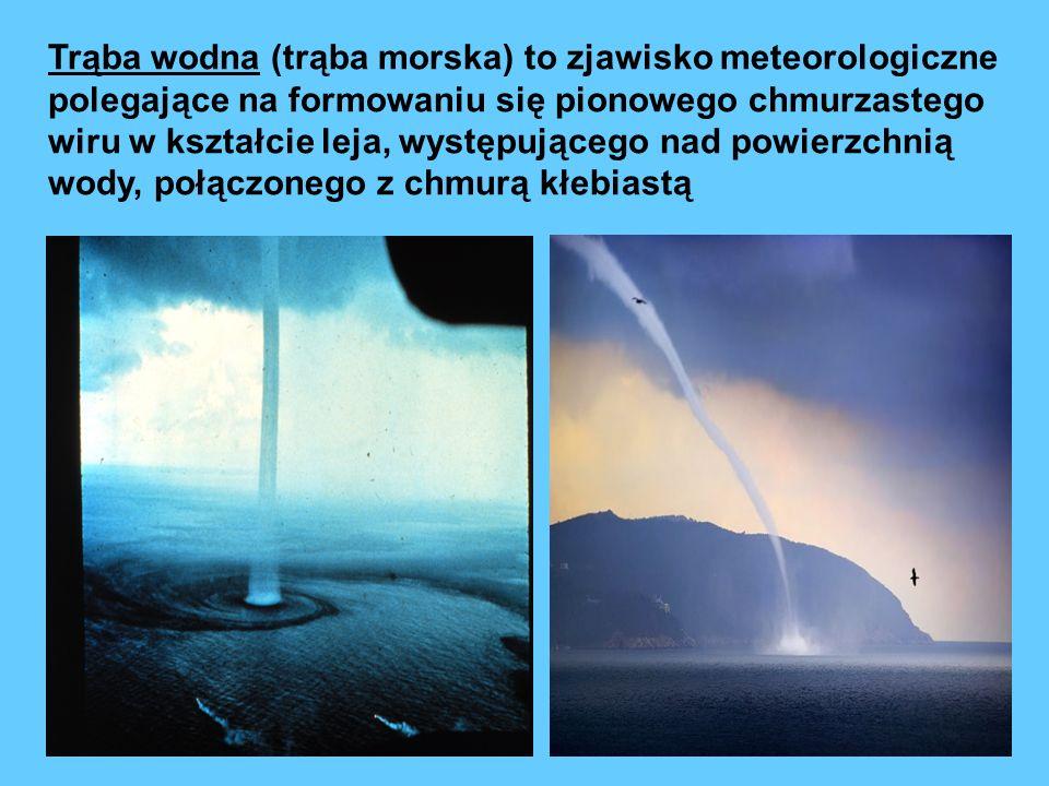 Trąba wodna (trąba morska) to zjawisko meteorologiczne polegające na formowaniu się pionowego chmurzastego wiru w kształcie leja, występującego nad po