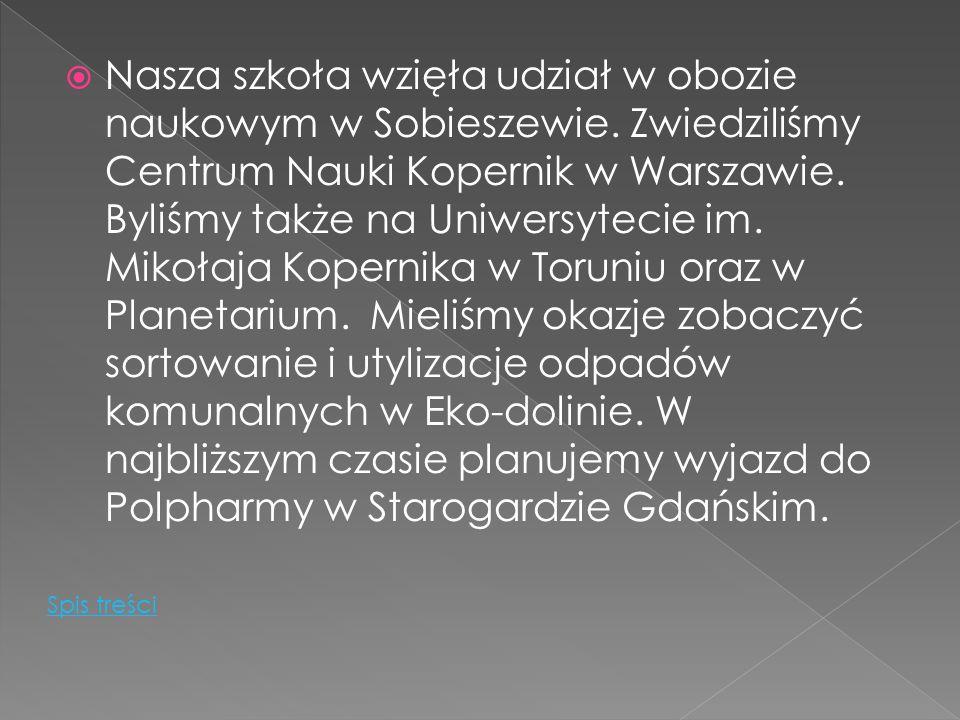 Nasza szkoła wzięła udział w obozie naukowym w Sobieszewie.