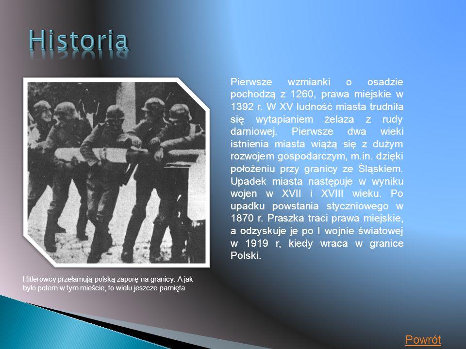 Hitlerowcy przełamują polską zaporę na granicy.