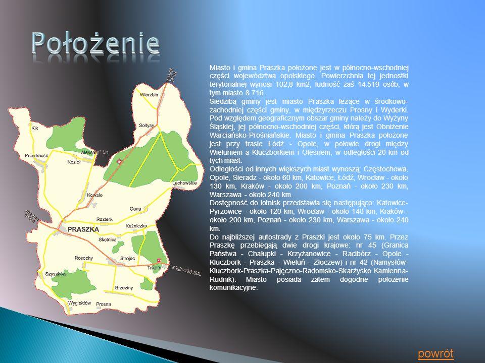 Miasto i gmina Praszka położone jest w północno-wschodniej części województwa opolskiego.