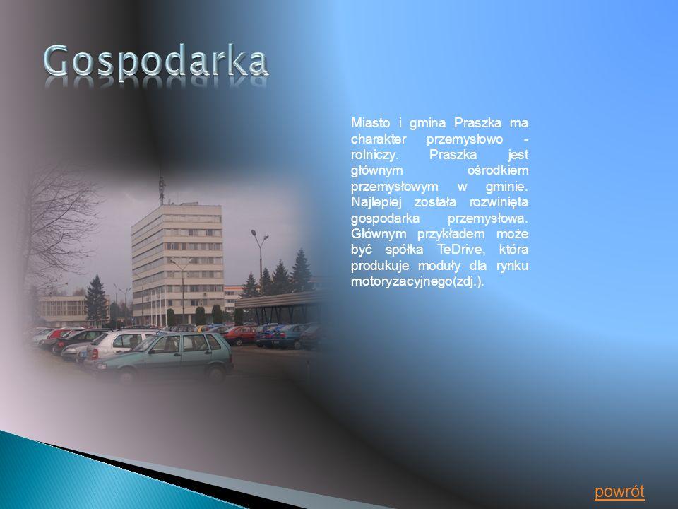 Miasto i gmina Praszka ma charakter przemysłowo - rolniczy.