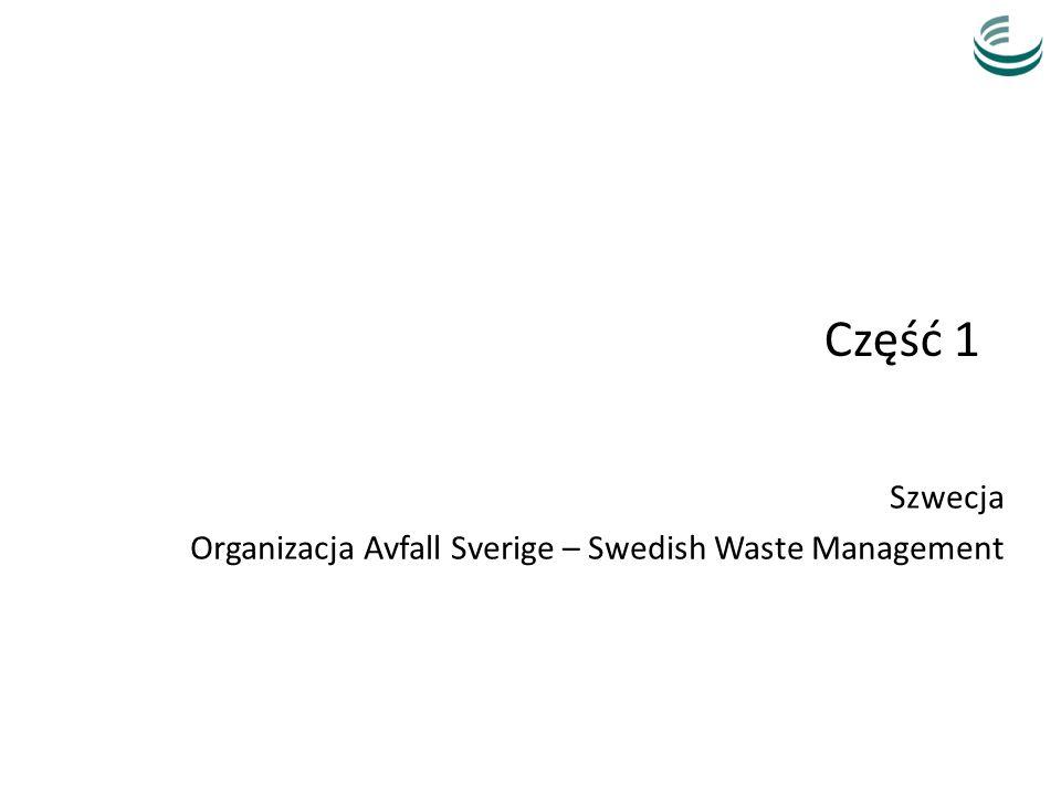 Część 1 Szwecja Organizacja Avfall Sverige – Swedish Waste Management