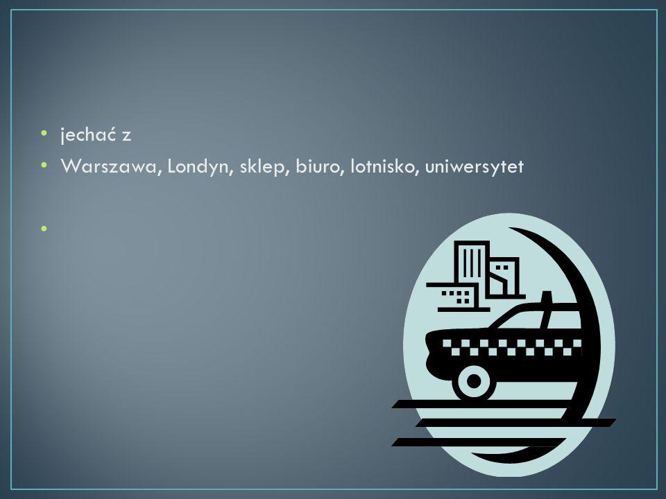 jechać z Warszawa, Londyn, sklep, biuro, lotnisko, uniwersytet