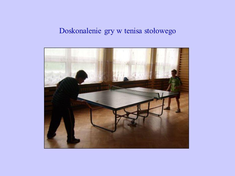 Doskonalenie gry w tenisa stołowego