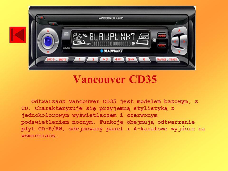 Vancouver CD35 Odtwarzacz Vancouver CD35 jest modelem bazowym, z CD. Charakteryzuje się przyjemną stylistyką z jednokolorowym wyświetlaczem i czerwony