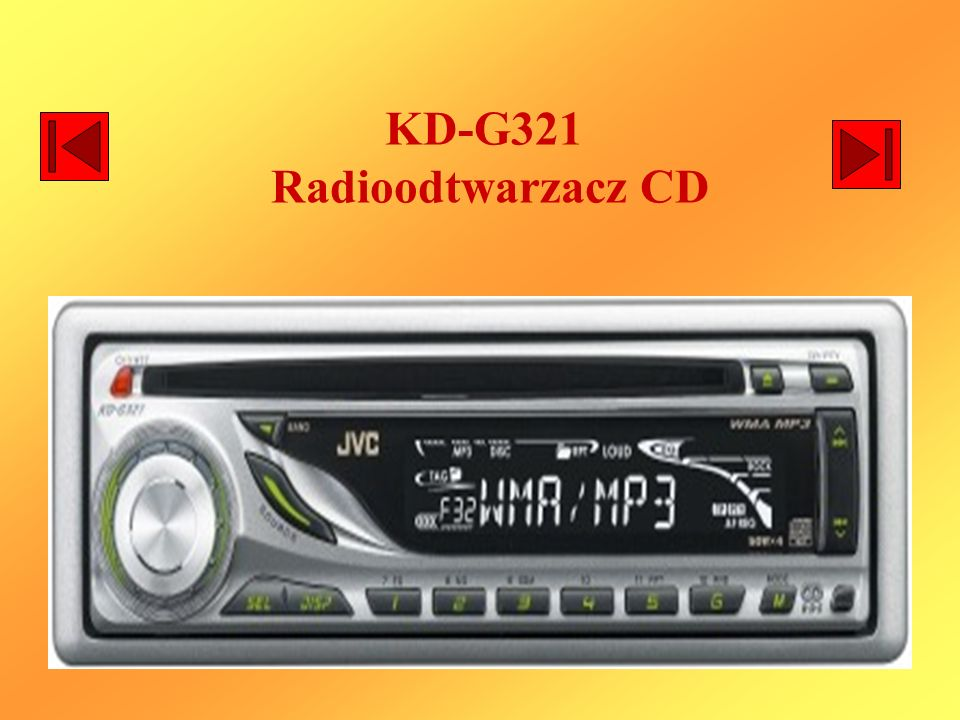 KD-G321 Radioodtwarzacz CD
