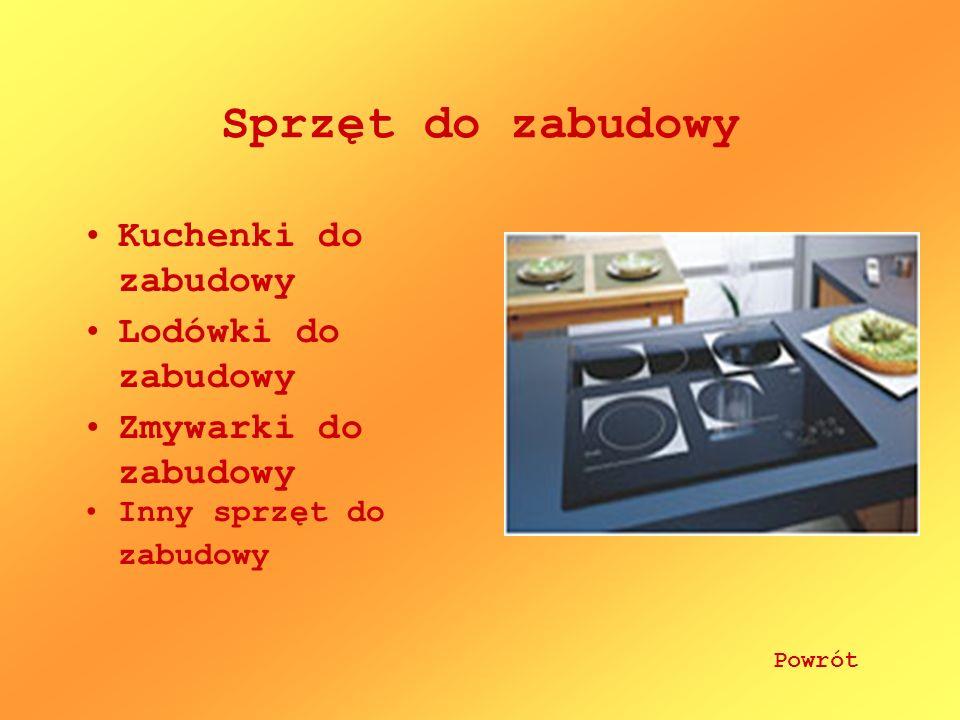 Sprzęt do zabudowy Kuchenki do zabudowy Lodówki do zabudowy Zmywarki do zabudowy Inny sprzęt do zabudowy Powrót