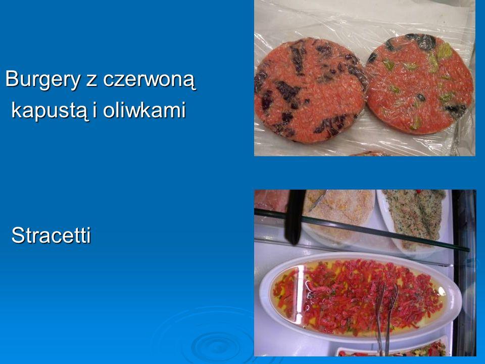 Burgery z czerwoną kapustą i oliwkami kapustą i oliwkami Stracetti Stracetti