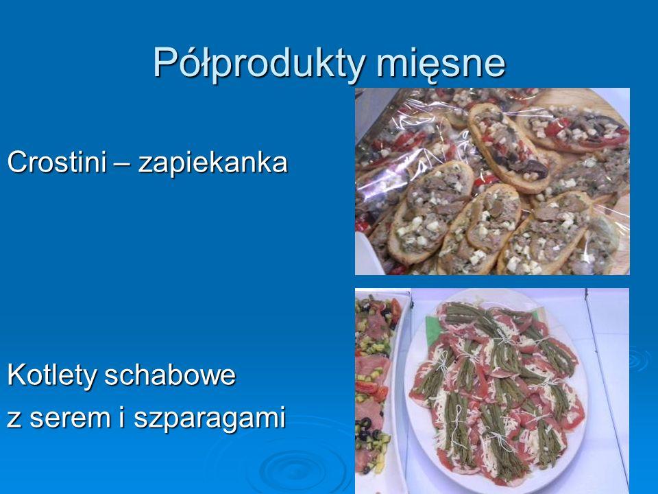 Półprodukty mięsne Crostini – zapiekanka Kotlety schabowe z serem i szparagami