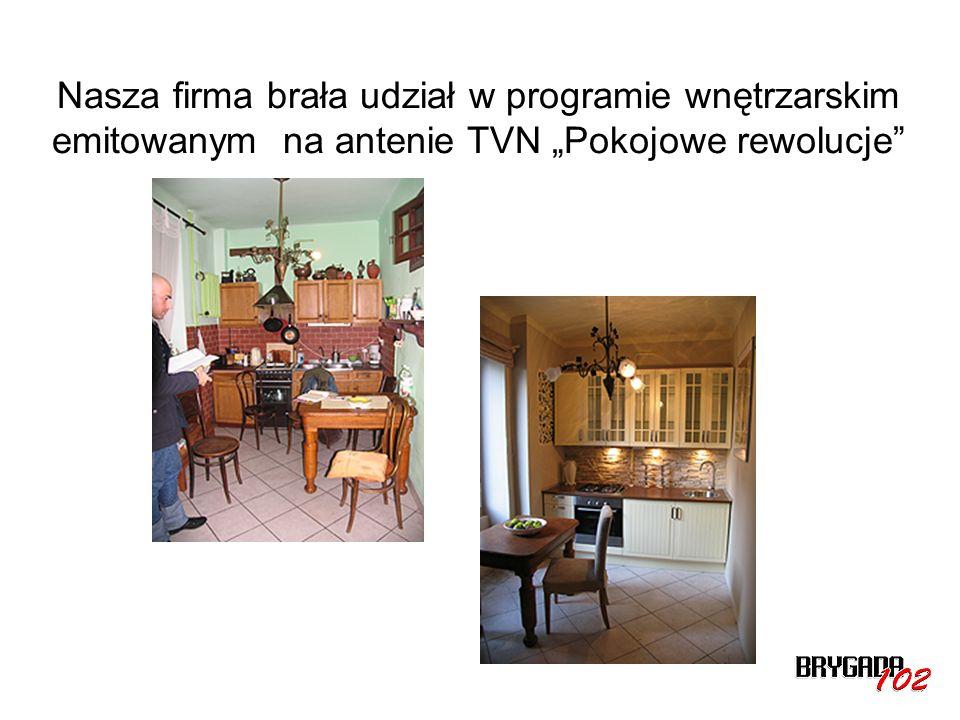 Nasza firma brała udział w programie wnętrzarskim emitowanym na antenie TVN Pokojowe rewolucje