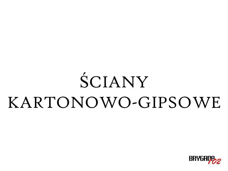 Ś CIANY KARTONOWO-GIPSOWE