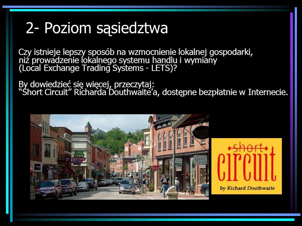 2- Poziom sąsiedztwa Czy istnieje lepszy sposób na wzmocnienie lokalnej gospodarki, niż prowadzenie lokalnego systemu handlu i wymiany (Local Exchange