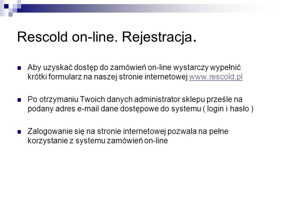 Rescold on-line. Rejestracja.