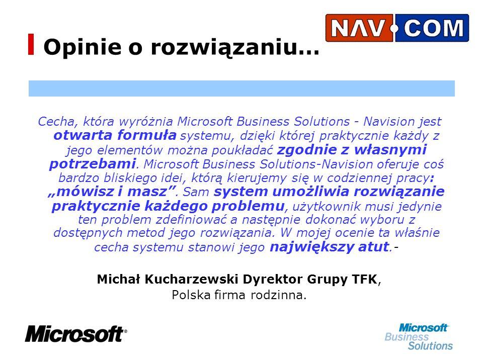 Cecha, która wyróżnia Microsoft Business Solutions - Navision jest otwarta formuła systemu, dzięki której praktycznie każdy z jego elementów można poukładać zgodnie z własnymi potrzebami.