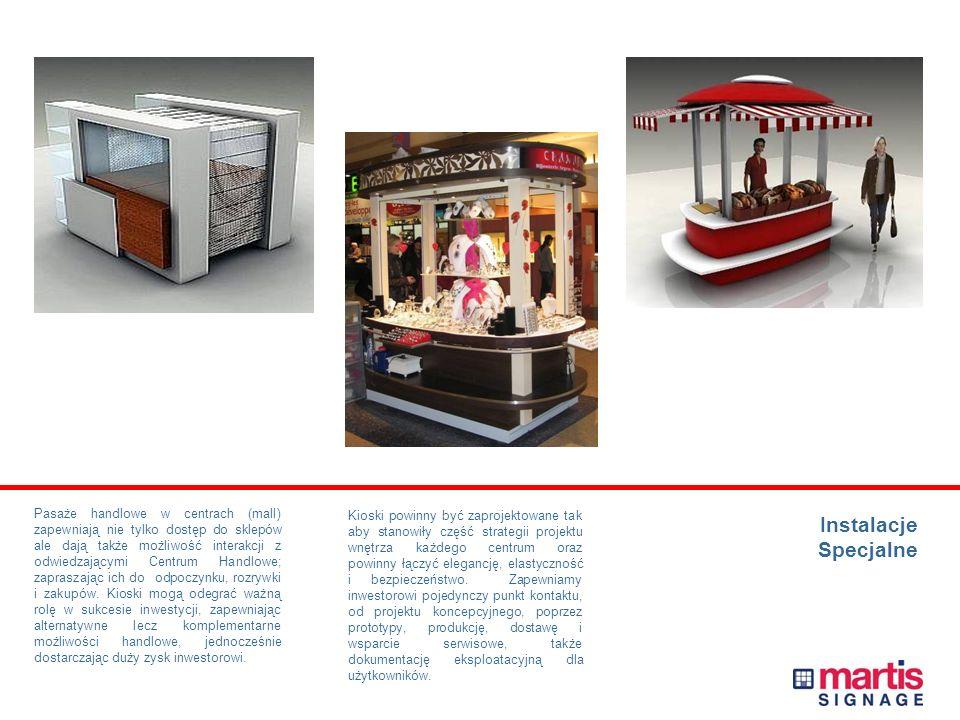 Instalacje Specjalne Uzupełnieniem oznakowania ogólnodostępnych obszarów Centrów Handlowych są elementy, które pomagają uatrakcyjnić, zdefiniować i wy