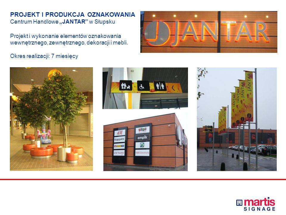 PROJEKT I PRODUKCJA OZNAKOWANIA Centrum Handlowe POGORIA w Dąbrowie Górniczej Projekt i wykonanie elementów oznakowania wewnętrznego, zewnętrznego i p
