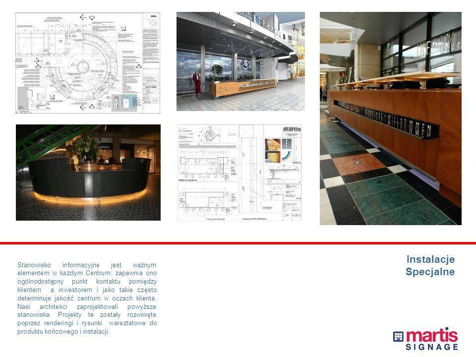 PROJEKT I PRODUKCJA OZNAKOWANIA Centrum Handlowe KAROLINKA w Opolu Projekt i wykonanie elementów oznakowania wewnętrznego, zewnętrznego i parkingowego, dekoracji i mebli.