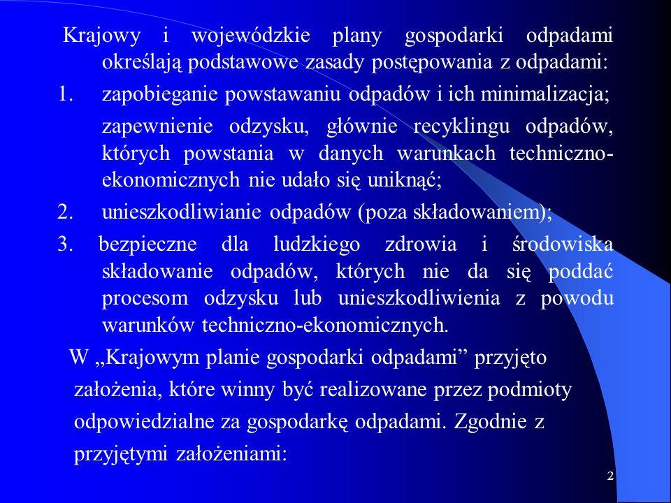 3 Cele szczegółowe na lata 2003 – 2006: 1.