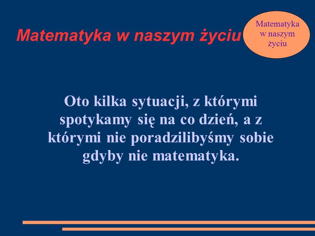 Prezentacja pt.: Matematyka w naszym życiu przedstawia Marcelina Skowron