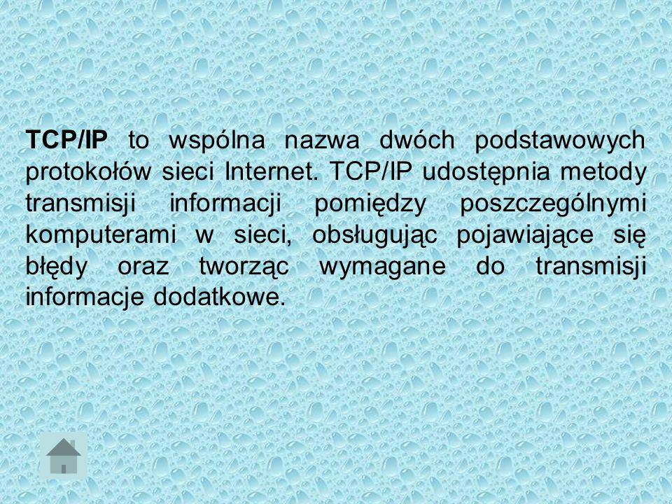 SŁOWNIK Routing to wyznaczanie trasy dla pakietu danych w sieci komputerowej, a następnie wysłanie go tą trasą Serwer jest to program komputerowy udos