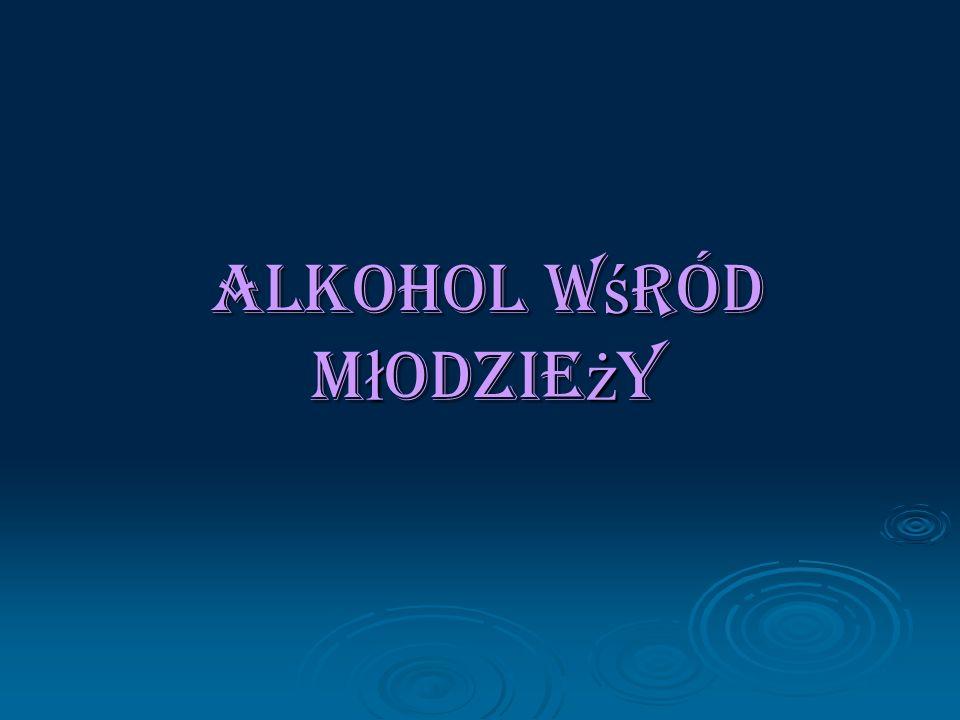Alkohol w ś ród m ł odzie ż y