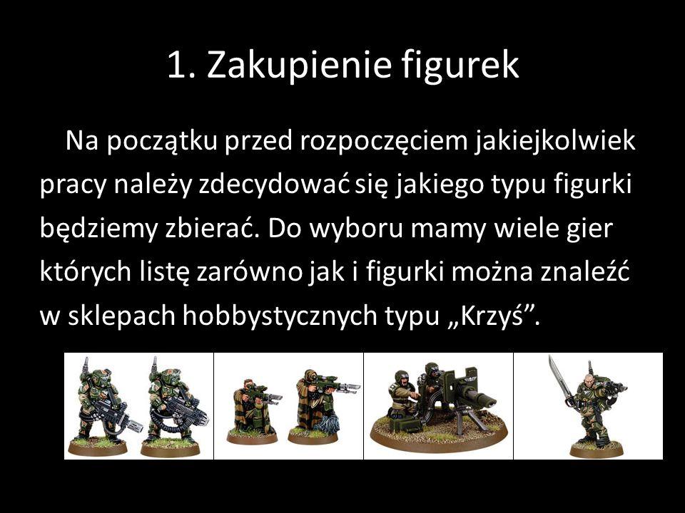 1. Zakupienie figurek Na początku przed rozpoczęciem jakiejkolwiek pracy należy zdecydować się jakiego typu figurki będziemy zbierać. Do wyboru mamy w