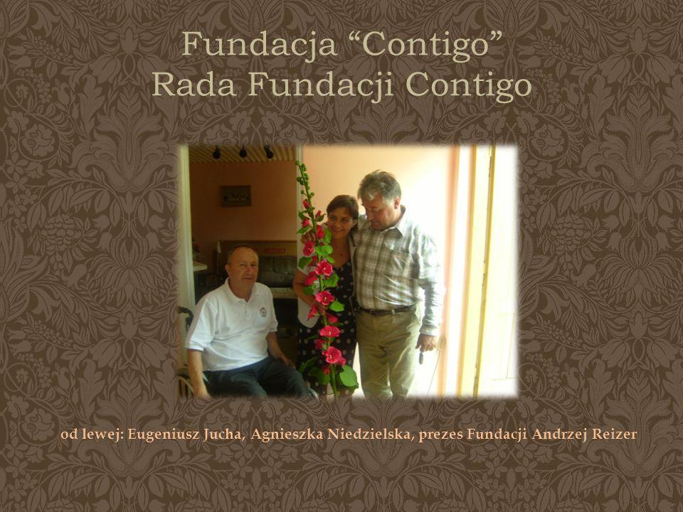 Fundacja Contigo Rada Fundacji Contigo od lewej: Eugeniusz Jucha, Agnieszka Niedzielska, prezes Fundacji Andrzej Reizer