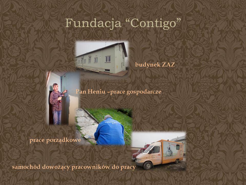 Fundacja Contigo budynek ZAZ Pan Heniu –prace gospodarcze prace porządkowe samochód dowożący pracowników do pracy