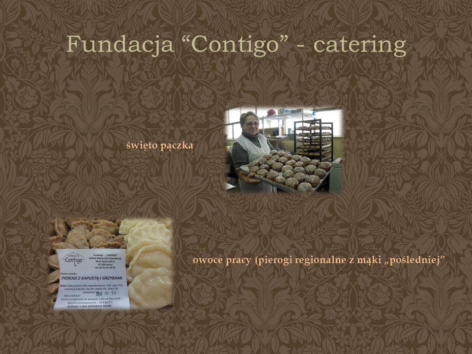 Fundacja Contigo - catering święto pączka owoce pracy (pierogi regionalne z mąki pośledniej