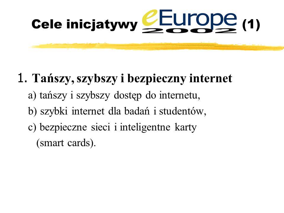 Cele inicjatywy (1) 1.