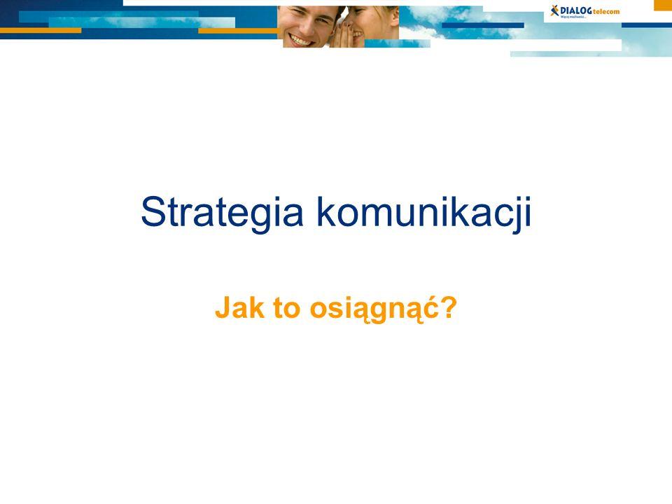 Strategia komunikacji Jak to osiągnąć?