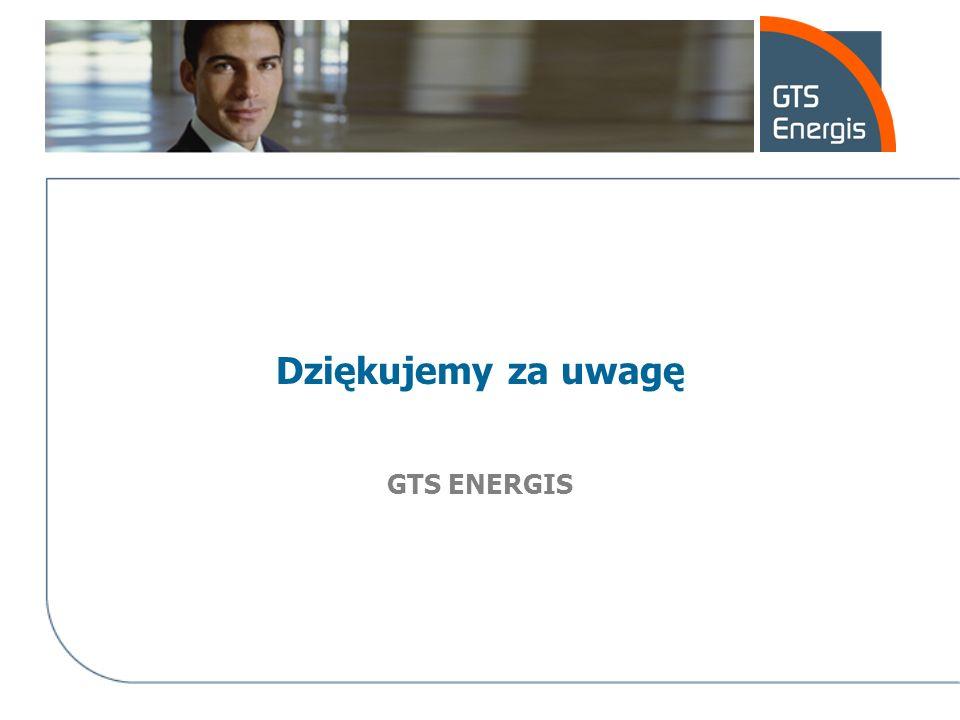 Dziękujemy za uwagę GTS ENERGIS